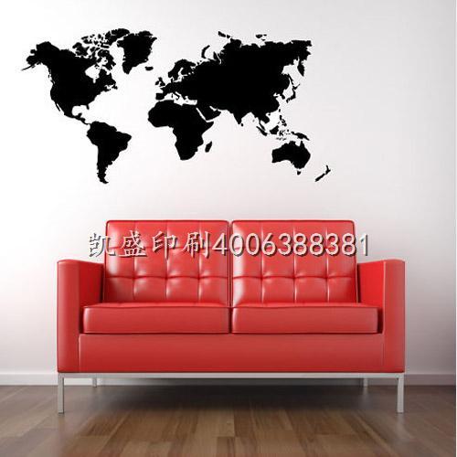 世界地图墙背景贴
